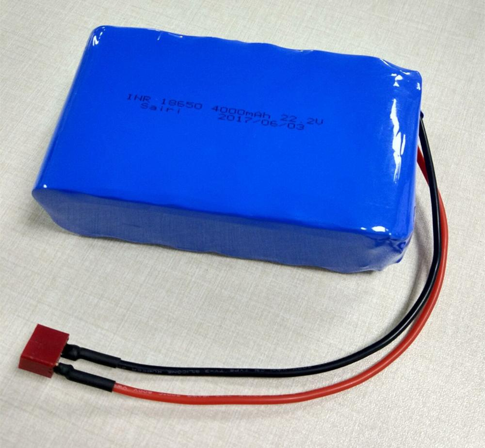 Rechargeable 18650 lithium ion battery pack 22.2V 4000mAh for kids car