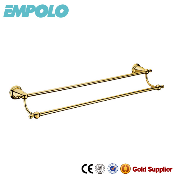 Gold Plated Double Towel Bars Bathroom Accessories Towel Rails From Factory 91608