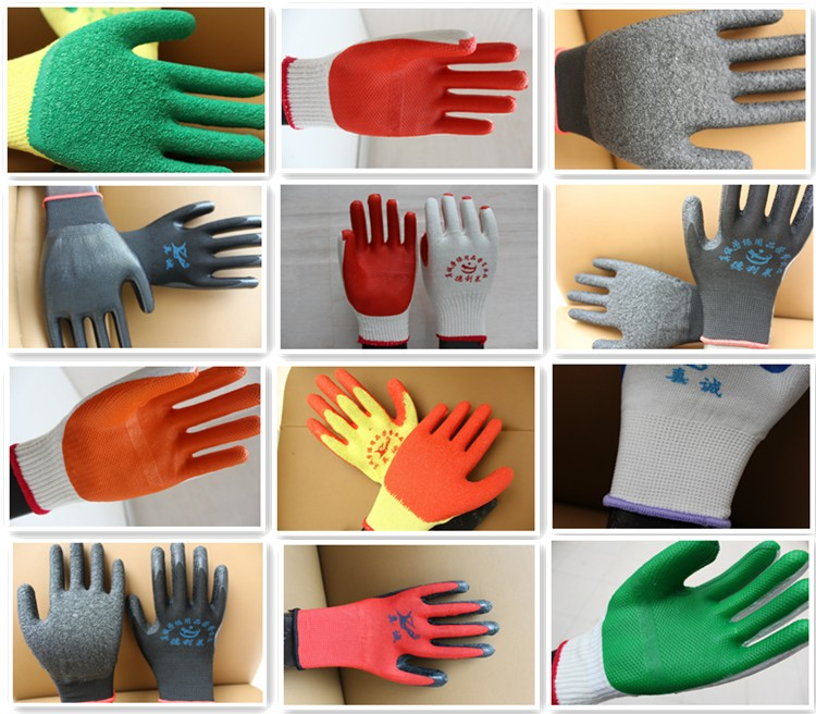 new model custom heavy work latex gloves for automobile industry
