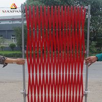 Iron Accordion Scissor Design Security Entrance Fence Mobile Collapsible Barrier folding Gate