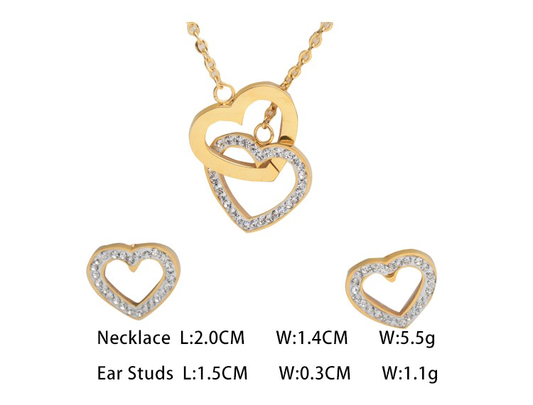 Best selling stainless steel fashion jewelry set