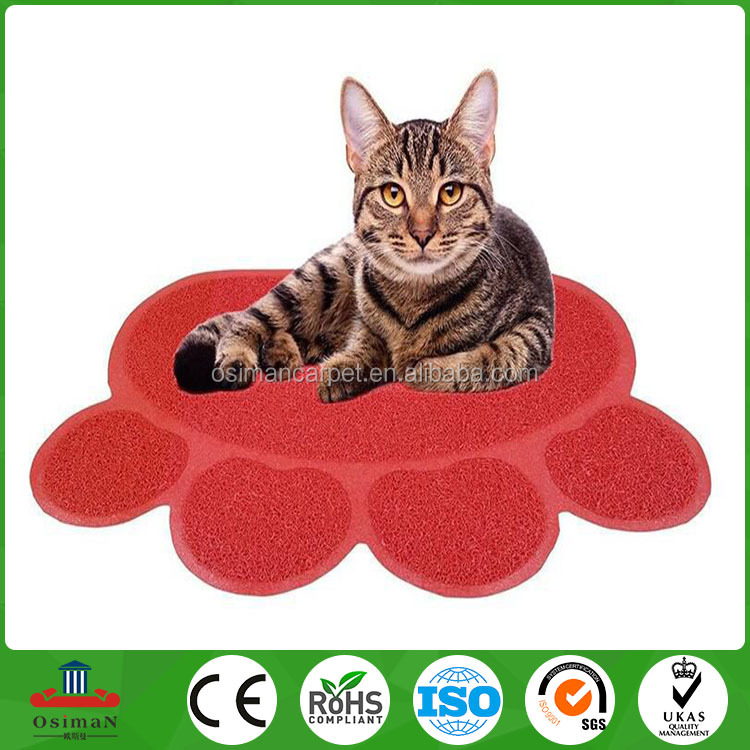 Durable Absorbed Pvc Pet Mats Pvc Cat Litter Mats Pet Pad