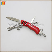 Red Matte Baking Promotional Multi Gift Pocket Knife With Opener