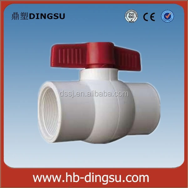 White and Grey Color PPR Ball Valve Plastic ball valve 40-110mm