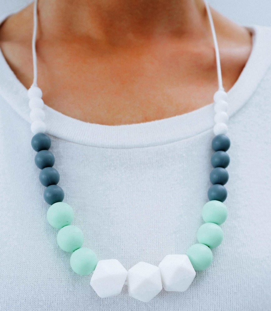 Silicone Teething Necklace for Mommy Perfect Baby Shower or New Mom Gift Chew Beads necklace