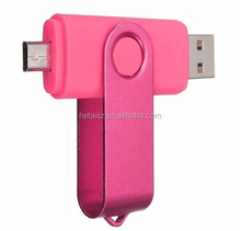 Best Classics Swivel OTG USB Flash Drive Memory Stick Dual Port Twist Thumb Drive with Micro USB Port Pen Drive Smartphone USB