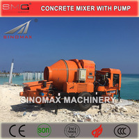 HOT! Diesel Engine Portable Concrete Mixer and Pump, Concrete Mixer with Pump with TOP quality for sale
