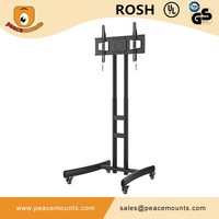 PM-ST600 New design vesa 600 x 400 moveable free standing retractable tv lift mechanism