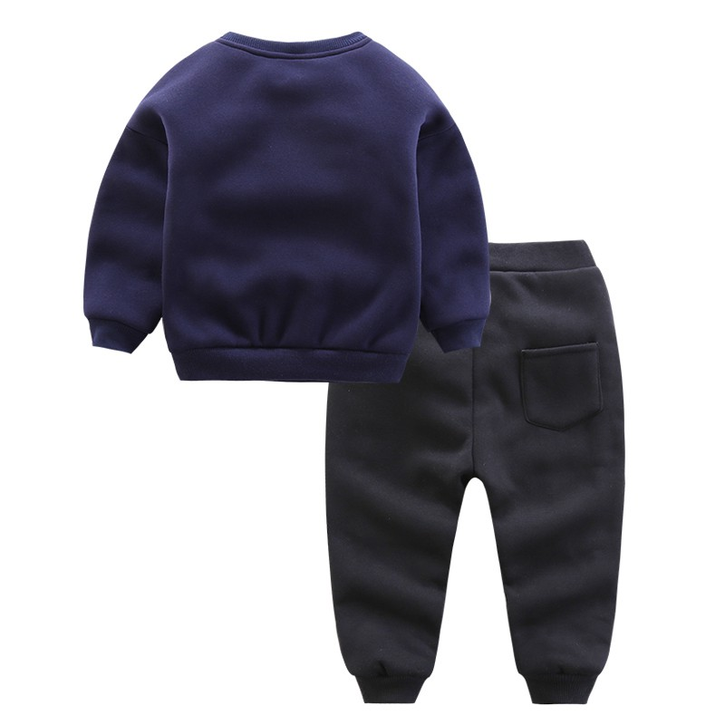 CROAL CHERIE 90-130cm Kids Clothes Boys Girls Winter Children Clothing Sets Tracksuit For Boys Hooded Coat Baby boy Clothes  (9)