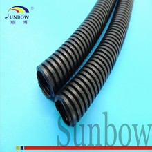 PA Black Flexible Corrugated Cable Sleeve For Wiring Harness In AUTOMOBILE