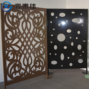 Art hollow out stainless steel metal paravent dubai room divider screen