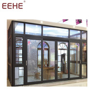 Beautiful style aluminum outdoor glass room portable sun room manufacturer