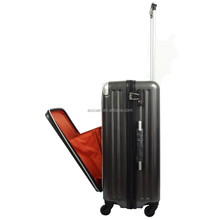 front pocket luggage business PC luggage with front pocket abs pc luggage
