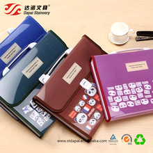 Promotional A4 size PP plastic durable portable 12 pocket plastic expanding box file