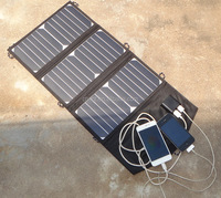 Portable folding highly efficient solar panels 19.5 W solar energy charger mobile solar panel power bank