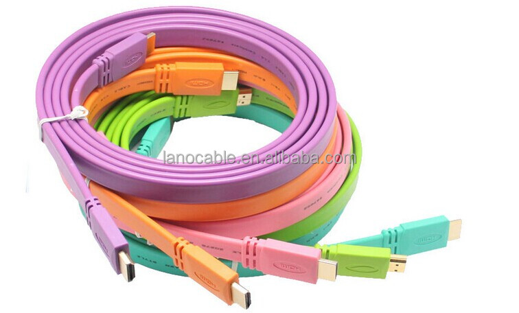 Wholesale colorful flat HDMI cable male to male