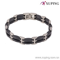 74247-xuping 2016 simple style stanless steel ceramic rhodium color bracelet for women