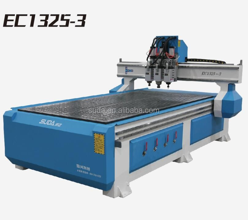 SUDA 3 SPINDLE MOTOR CNC WOOD ROUTER FOR DOORS EC1325