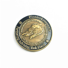 Cheap custom copper plated sport old challenge game token coins with logo