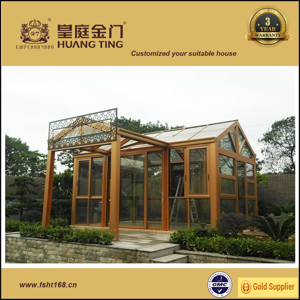 Design Customized Durable Aluminium Double Glazed Lowes Sunrooms
