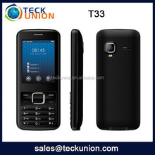 T33 2.4inch 3 sim card low price china mobile phone with open fm