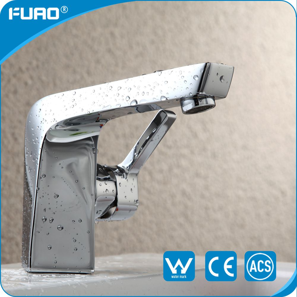 FUAO single handle brass bathroom wash basin faucet