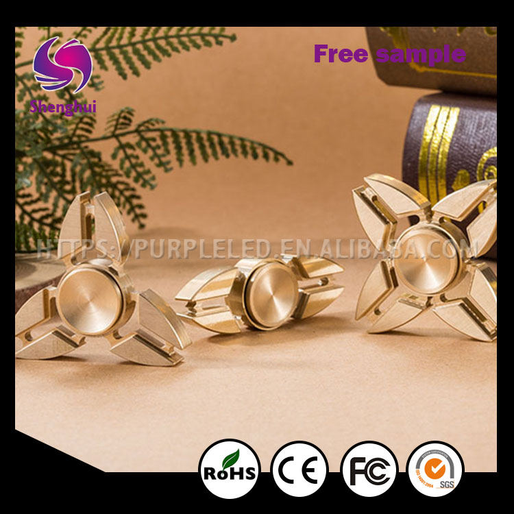 Hight Quality Regular Relieve Stress Abs+Stainless Steel Metal Effect Hand Spinner Toys Fidget Spinner With Packing Cy0041