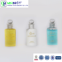 Wholesale Hotel shampoo bottle set disposable cheap hotel amenities set empty bottle with logo printing