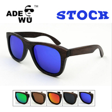 High Quality Men's Cycling sunglasses polarized handmade <strong>bamboo</strong> mixing colors wholesale