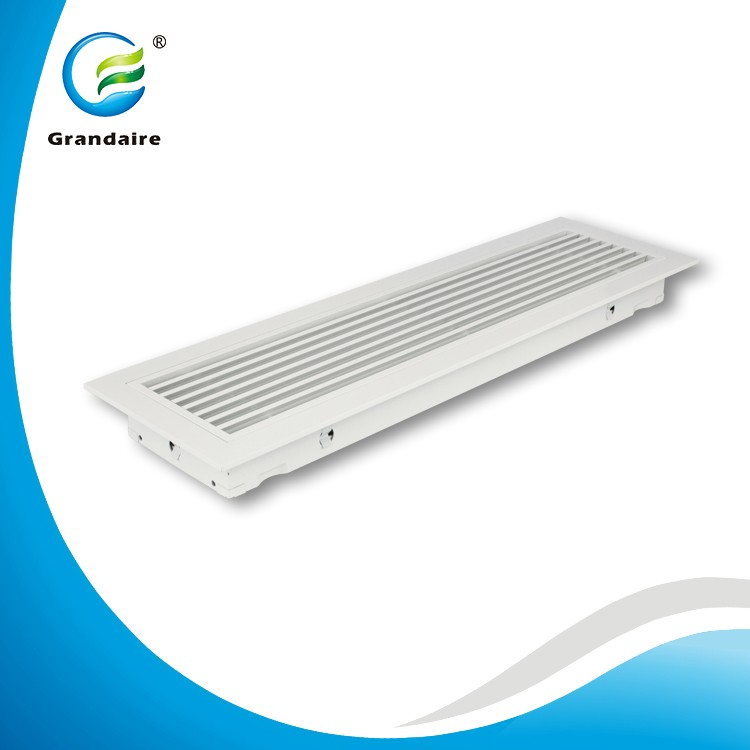 China Factory Aluminum Floor Air Vents Linear Diffuser with Removable Core in Air Conditioning System