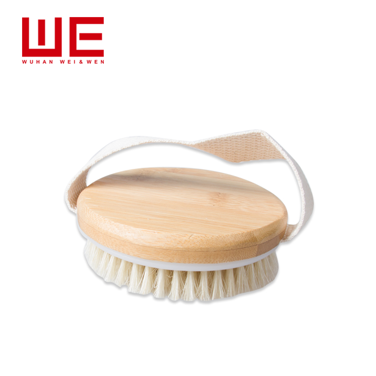 Best bristle round wooden bamboo soft bristle bath body brush for Spa