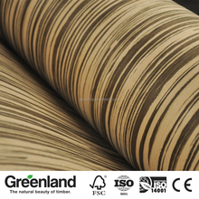 Ayous Raw Material Zebrano Engineered Wood Veneer