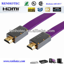 Hot selling high quality support 4K*2K TV hdmi to bnc cable flat hdmi cable