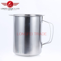 2016 stainless steel filter oil cups/measure cup/glass