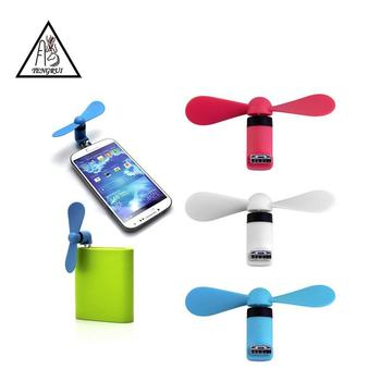 Logo available colorful portable air cooler mini usb android cellphone fan