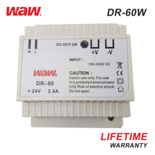 WODE 2018 High-Performance Dr-60 Ac/Dc Output Din Rail Switching Power Supply