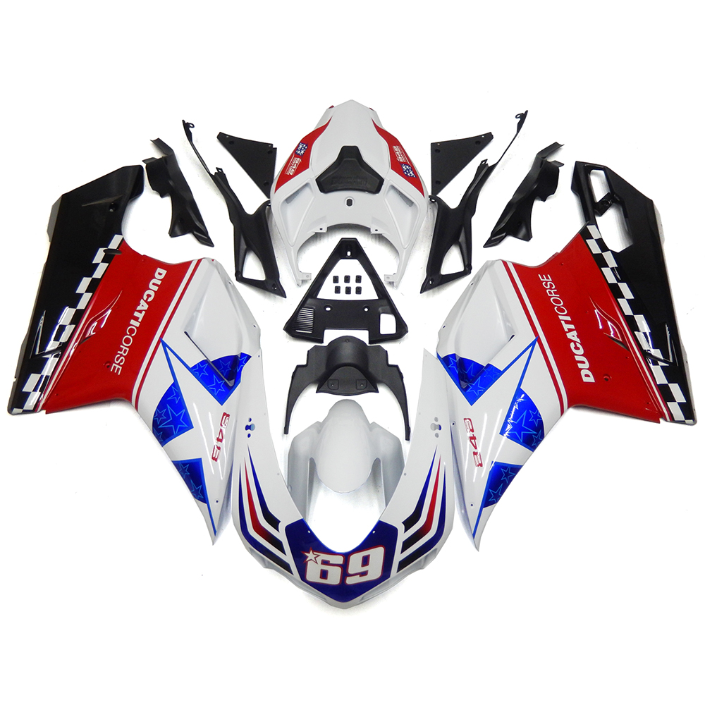 Injection Fairings For Ducati 848 1098 1198 2007 - 2012 ABS Plastic Complete Motorcycle Fairing Kit Hayden Edition
