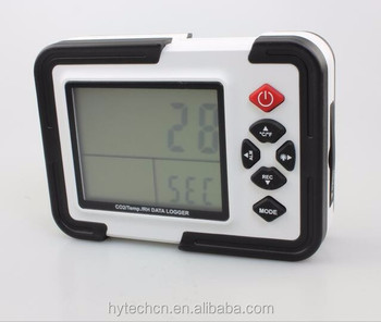 Hot selling HT-2000 Alarm co2 temperature rh data logger co2 monitor