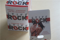 custom printed card stiff rock card for sexual pills packaging and stiff rock boxes packaging for male sex enhancement pills