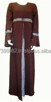 New Arabic Abaya's with lace - latest abaya's pakistan manufacturer muslim dress new ladies dress modern abaya dress