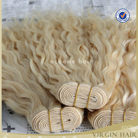 Wholesale 6a blonde kinky curly hair weave samples tangle free
