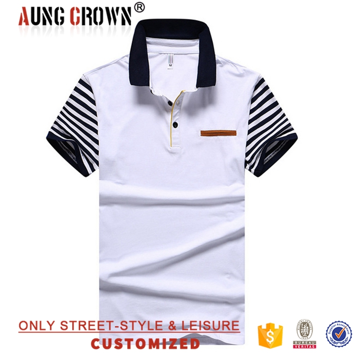 Good Quality Wholesale Short Sleeve Mens Shirts Polo Cotton Polyester Cheap