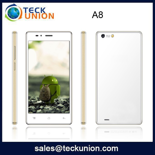 A8 5.0 inch touch screen phone Android 4.2.2 dual cameras unlocked cellphones