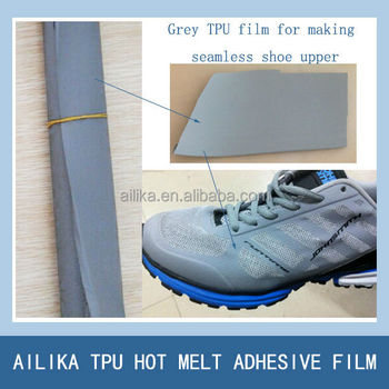 TPU leather for free sewing shoe upper making with high anti folding shoe upper mesh fabric