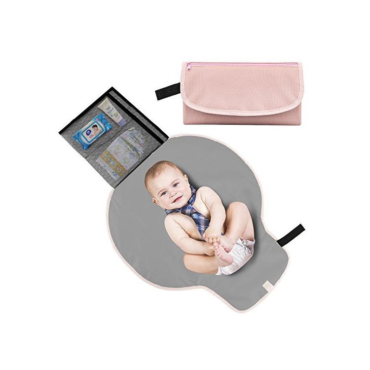 Baby Portable Changing Pad Diaper Clutch Bag
