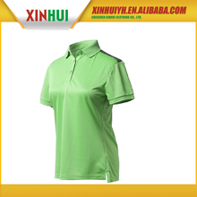 wholesale china factory women's short sleeve polo t shirt with collar