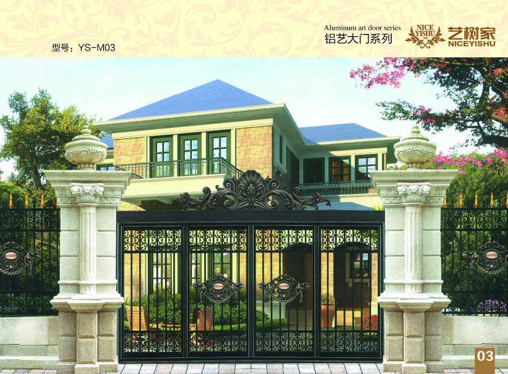 High quality modern villa entrance gate design luxury for Modern house entrance gate designs