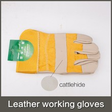 Guantes Trabajo New Garden Gloves 2015 Hot Abrasion <strong>Safety</strong> Working Protective Leather Welding Gloves for Building