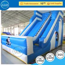 inflatable PVC trampoline water dry slide toboggan playground for kids event party rental