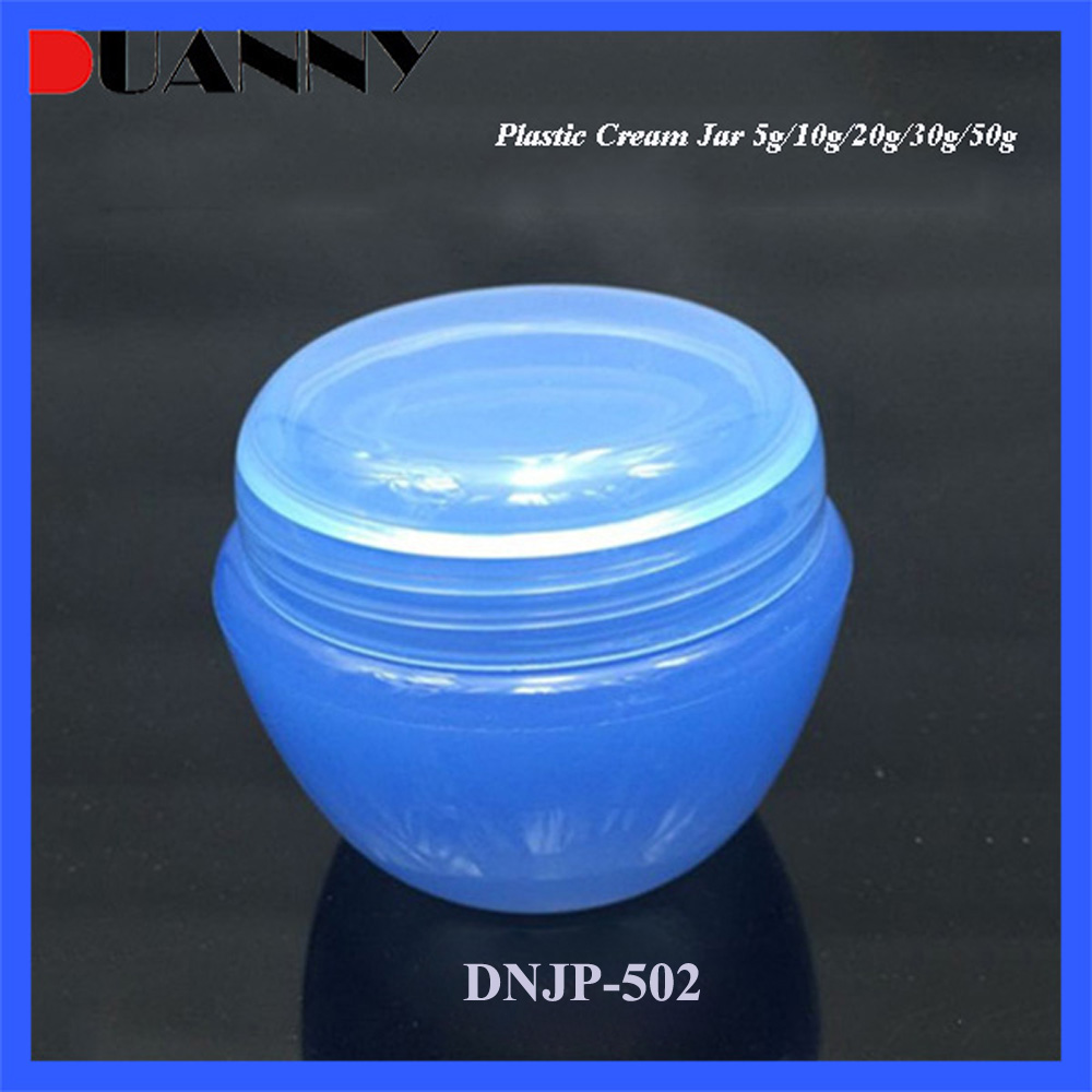 5g 15g 30g 50g PP Blue Small Cosmetic Cream Container For Skin Care